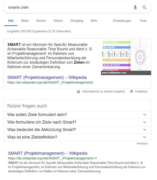 Featured Snippets – Mehr Traffic als Erstplatzierter in den Suchergebnissen 2